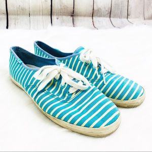 KEDS Tahiti Stripe Tie Fashion Canvas Sneakers